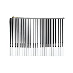 Abstract Piano Keys Background Cosmetic Bag (large)