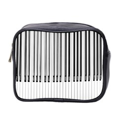 Abstract Piano Keys Background Mini Toiletries Bag 2 Side