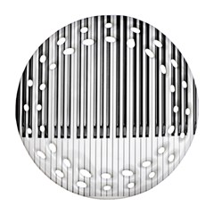 Abstract Piano Keys Background Round Filigree Ornament (two Sides) by Nexatart