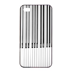 Abstract Piano Keys Background Apple Iphone 4/4s Seamless Case (black) by Nexatart