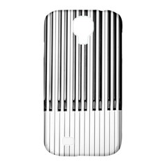 Abstract Piano Keys Background Samsung Galaxy S4 Classic Hardshell Case (pc+silicone)