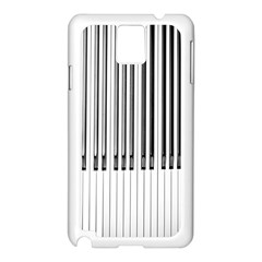 Abstract Piano Keys Background Samsung Galaxy Note 3 N9005 Case (white) by Nexatart