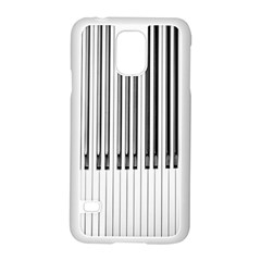 Abstract Piano Keys Background Samsung Galaxy S5 Case (white) by Nexatart