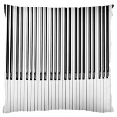 Abstract Piano Keys Background Large Flano Cushion Case (one Side) by Nexatart