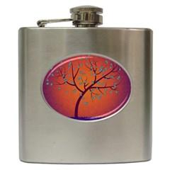 Beautiful Tree Background Hip Flask (6 Oz) by Nexatart