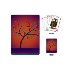Beautiful Tree Background Playing Cards (mini)