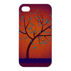 Beautiful Tree Background Apple Iphone 4/4s Premium Hardshell Case