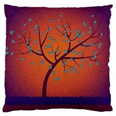 Beautiful Tree Background Large Cushion Case (one Side)