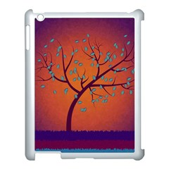 Beautiful Tree Background Apple Ipad 3/4 Case (white) by Nexatart