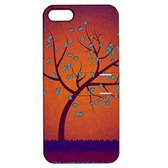 Beautiful Tree Background Apple Iphone 5 Hardshell Case With Stand by Nexatart