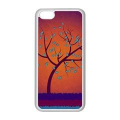Beautiful Tree Background Apple Iphone 5c Seamless Case (white) by Nexatart