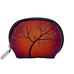 Beautiful Tree Background Accessory Pouches (small)