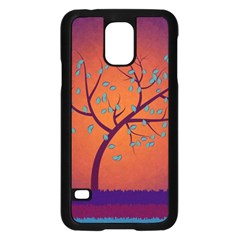 Beautiful Tree Background Samsung Galaxy S5 Case (black)