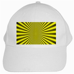 Sunburst Pattern Radial Background White Cap by Nexatart