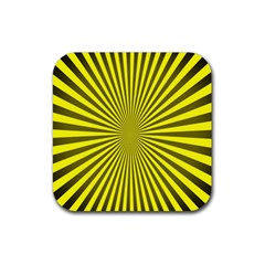 Sunburst Pattern Radial Background Rubber Square Coaster (4 Pack)  by Nexatart