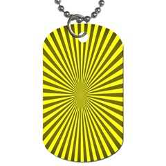 Sunburst Pattern Radial Background Dog Tag (two Sides)