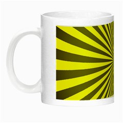 Sunburst Pattern Radial Background Night Luminous Mugs by Nexatart