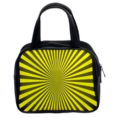 Sunburst Pattern Radial Background Classic Handbags (2 Sides)