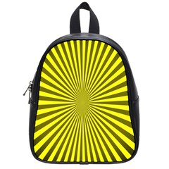 Sunburst Pattern Radial Background School Bags (small)  by Nexatart