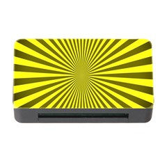 Sunburst Pattern Radial Background Memory Card Reader With Cf by Nexatart
