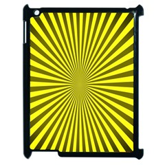 Sunburst Pattern Radial Background Apple Ipad 2 Case (black) by Nexatart