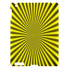 Sunburst Pattern Radial Background Apple Ipad 3/4 Hardshell Case by Nexatart