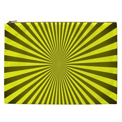 Sunburst Pattern Radial Background Cosmetic Bag (xxl)  by Nexatart