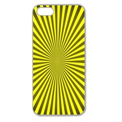 Sunburst Pattern Radial Background Apple Seamless Iphone 5 Case (clear)