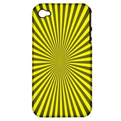 Sunburst Pattern Radial Background Apple Iphone 4/4s Hardshell Case (pc+silicone)