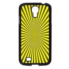 Sunburst Pattern Radial Background Samsung Galaxy S4 I9500/ I9505 Case (black)