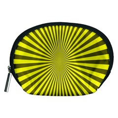 Sunburst Pattern Radial Background Accessory Pouches (medium)  by Nexatart