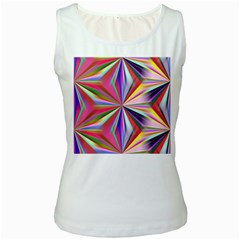 Star A Completely Seamless Tile Able Design Women s White Tank Top