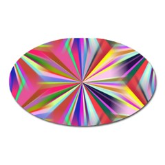 Star A Completely Seamless Tile Able Design Oval Magnet by Nexatart