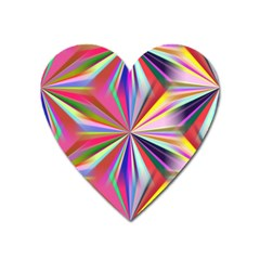 Star A Completely Seamless Tile Able Design Heart Magnet by Nexatart
