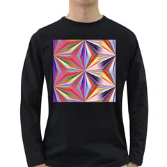 Star A Completely Seamless Tile Able Design Long Sleeve Dark T Shirts