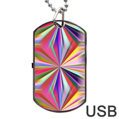Star A Completely Seamless Tile Able Design Dog Tag Usb Flash (one Side) by Nexatart