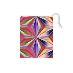Star A Completely Seamless Tile Able Design Drawstring Pouches (small)  by Nexatart