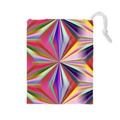 Star A Completely Seamless Tile Able Design Drawstring Pouches (large)  by Nexatart