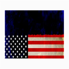 Grunge American Flag Background Small Glasses Cloth (2 Side) by Nexatart