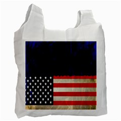 Grunge American Flag Background Recycle Bag (one Side) by Nexatart