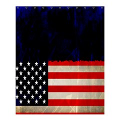 Grunge American Flag Background Shower Curtain 60  X 72  (medium)