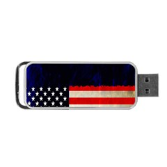 Grunge American Flag Background Portable Usb Flash (two Sides) by Nexatart