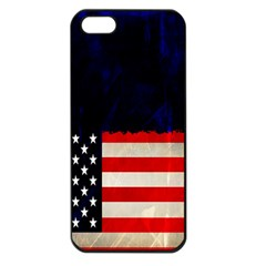 Grunge American Flag Background Apple Iphone 5 Seamless Case (black) by Nexatart