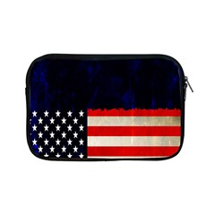 Grunge American Flag Background Apple Ipad Mini Zipper Cases by Nexatart