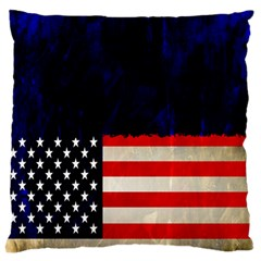 Grunge American Flag Background Standard Flano Cushion Case (two Sides) by Nexatart