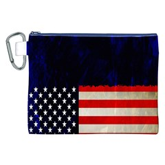 Grunge American Flag Background Canvas Cosmetic Bag (xxl) by Nexatart