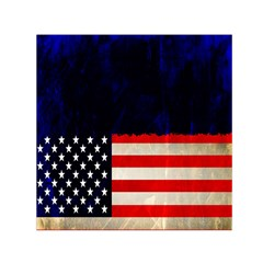 Grunge American Flag Background Small Satin Scarf (square) by Nexatart