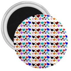 A Creative Colorful Background With Hearts 3  Magnets by Nexatart
