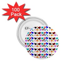 A Creative Colorful Background With Hearts 1 75  Buttons (100 Pack)