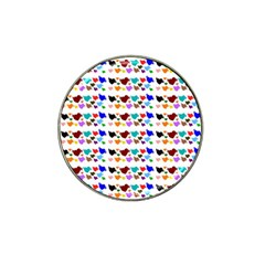 A Creative Colorful Background With Hearts Hat Clip Ball Marker (4 Pack) by Nexatart